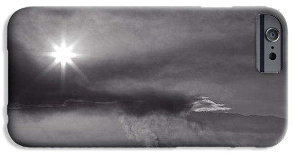 Sunrise Over Burning Sugar Cane Fields Maui Hawaii IPhone Case by Edward Fielding