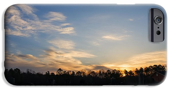 Sunrise Over The Cemetary IPhone Case by Chris Flees