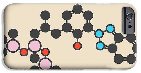 Sunscreen Molecule IPhone Case by Molekuul