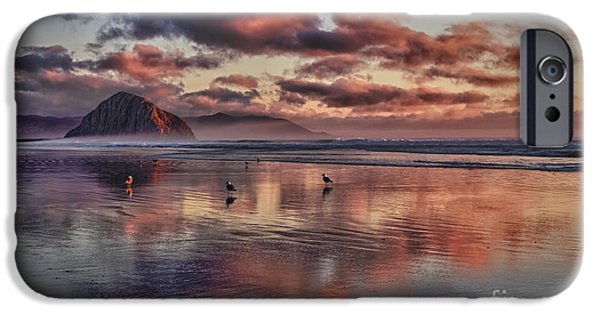 Sunset At Morro Strand IPhone Case by Beth Sargent