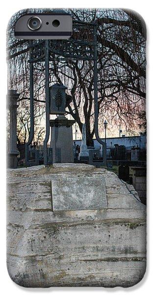 Sunset Over Tombstone IPhone Case by Robert Hebert