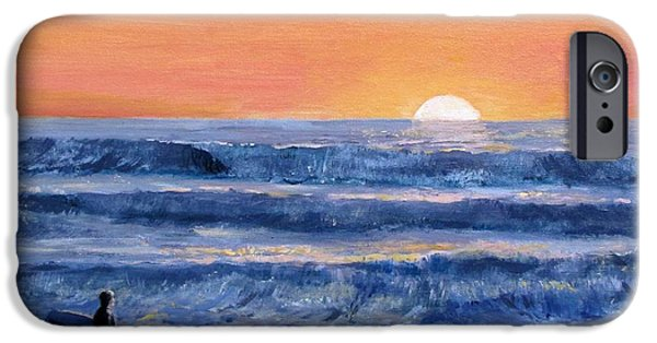 Sunset Surfer IPhone Case by Jack Skinner