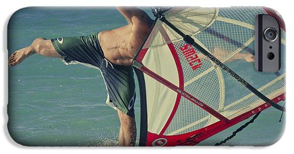 Surfing Kanaha Maui Hawaii IPhone Case by Sharon Mau