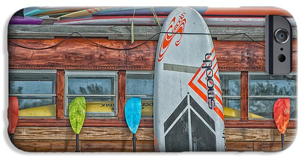 Surfs Up - Vintage Woodie Surf Bus - Florida - Hdr Style IPhone Case by Ian Monk