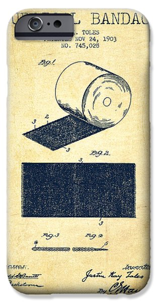 Surgical Bandage Patent From 1903- Vintage IPhone Case by Aged Pixel