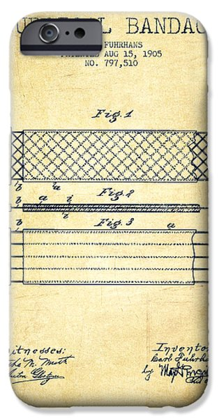 Surgical Bandage Patent From 1905- Vintage IPhone Case by Aged Pixel