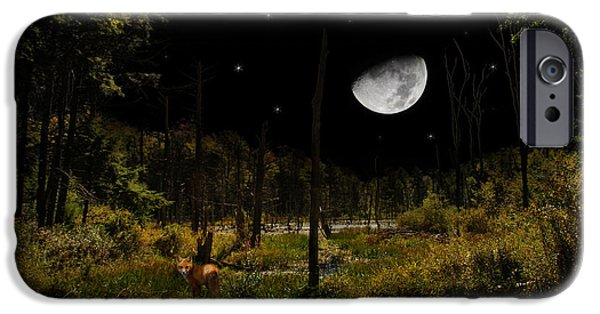 Swamped Moon Landscape IPhone Case by Christina Rollo