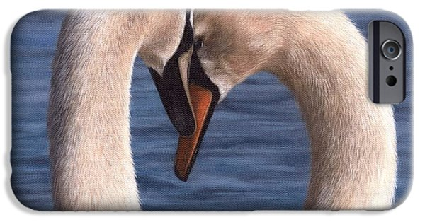 Swans Painting IPhone 6s Case by Rachel Stribbling