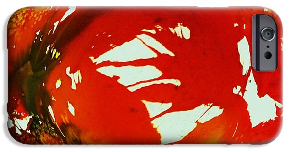 Swirling Crimson Abstract IPhone Case by Ellen Levinson