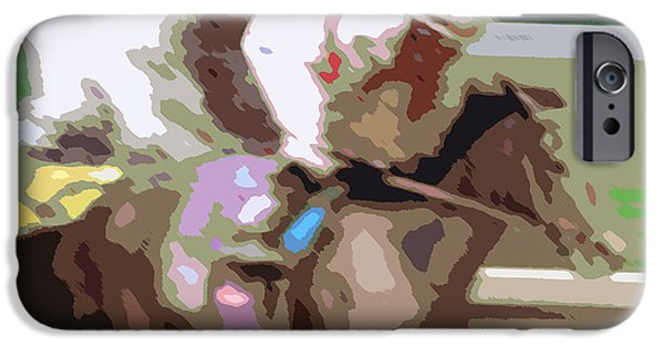 Taking The Lead Abstract Painting IPhone Case by George Pedro