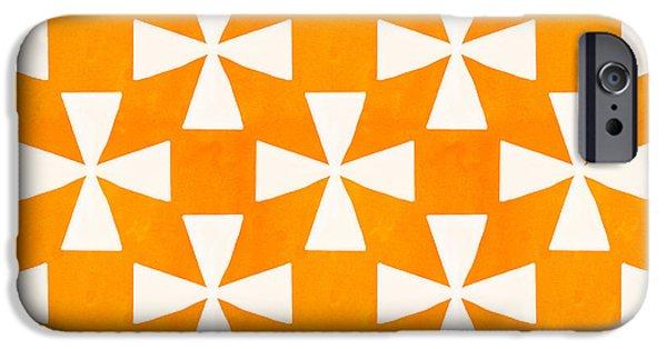 Tangerine Twirl IPhone Case by Linda Woods