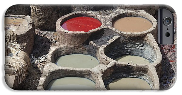 Tannery In Fez IPhone Case by Patricia Hofmeester