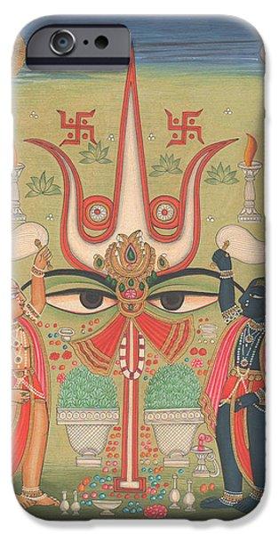 Tantra Tantrik Artwork Painting Hindu Mysterious Art Painting Artist  IPhone Case by A K Mundhra