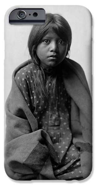 Taos Girl Circa 1905 IPhone Case by Aged Pixel