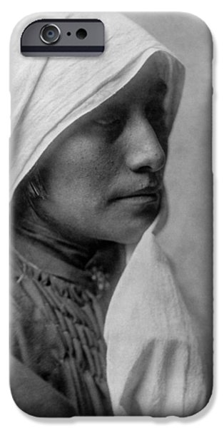 Taos Woman Circa 1905 IPhone Case by Aged Pixel