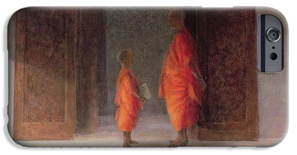 Teacher, 2005 Acrylic On Canvas IPhone Case by Lincoln Seligman