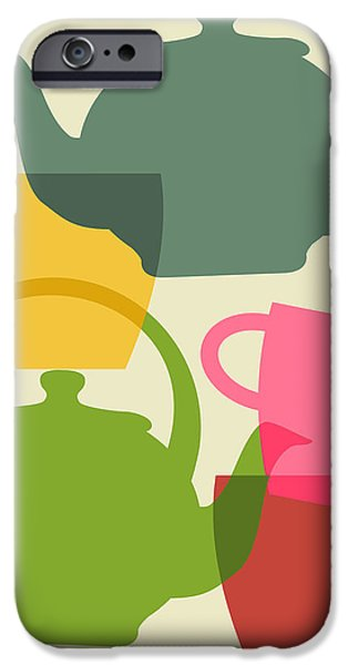 Teapot And Teacups IPhone 6s Case by Ramneek Narang