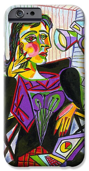 Technology And Picasso IPhone Case by Leon Zernitsky