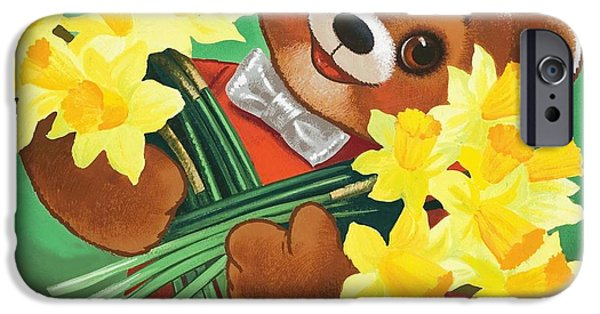 Teddy Bear IPhone Case by William Francis Phillipps