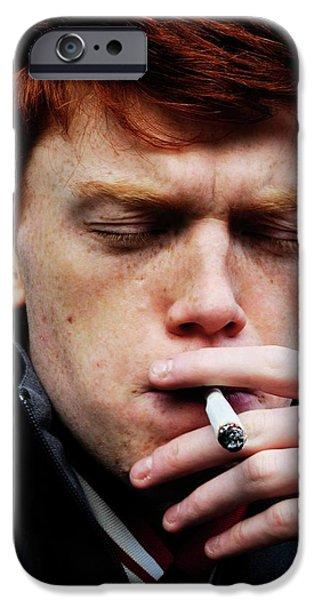 Teenager Smoking IPhone Case by Cordelia Molloy