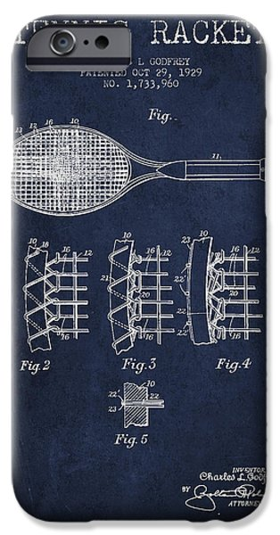 Tennnis Racket Patent Drawing From 1929 IPhone 6s Case by Aged Pixel