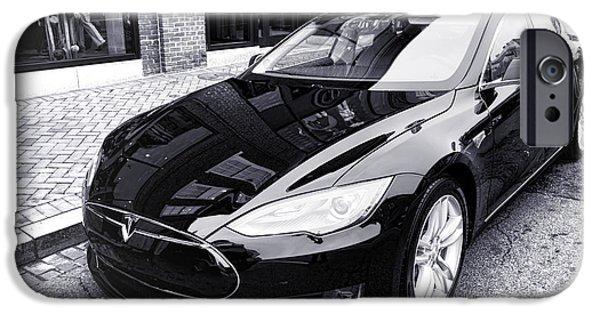 Tesla Model S IPhone Case by Olivier Le Queinec