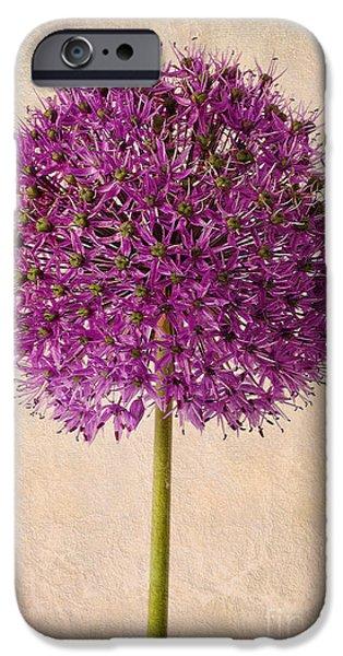 Textured Allium IPhone Case by John Edwards