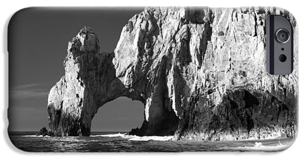 The Arch Cabo San Lucas In Black And White IPhone Case by Sebastian Musial