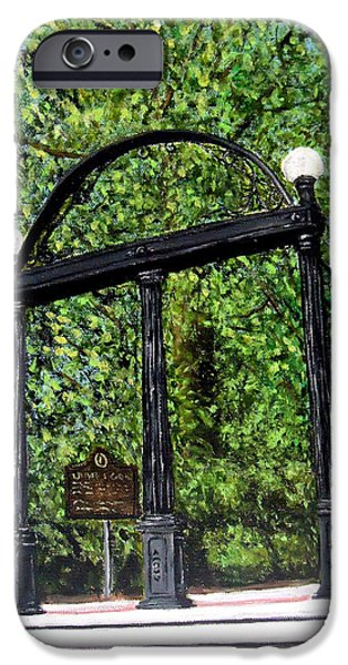 The Arch - University Of Georgia- Painting IPhone 6s Case by Katie Phillips