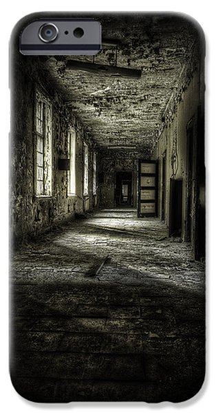 The Asylum Project - Corridor Of Terror IPhone Case by Erik Brede