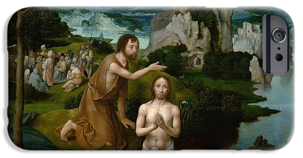 The Baptism Of Christ IPhone Case by Joachim Patinir
