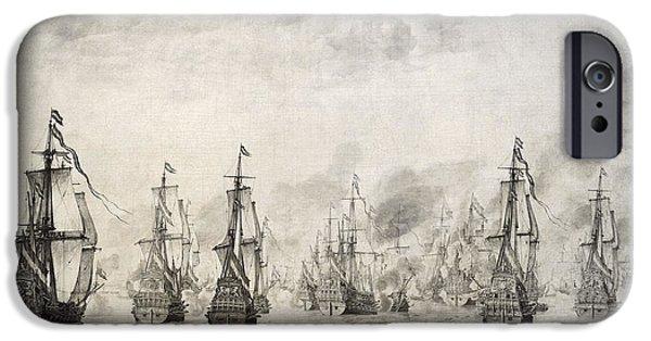 The Battle Of Dunkirk, 1659, By Willem Van De Velde I1611-1693 IPhone 6s Case by Bridgeman Images