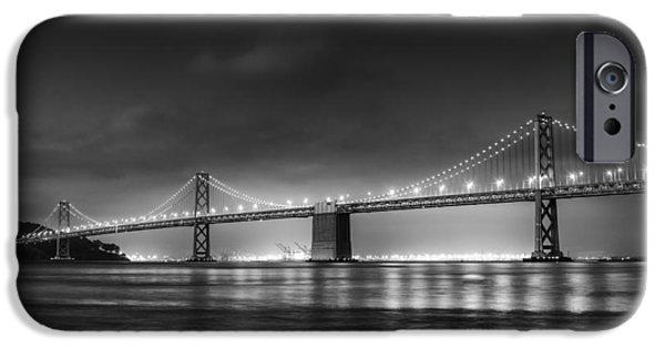 The Bay Bridge Monochrome IPhone Case by Scott Norris