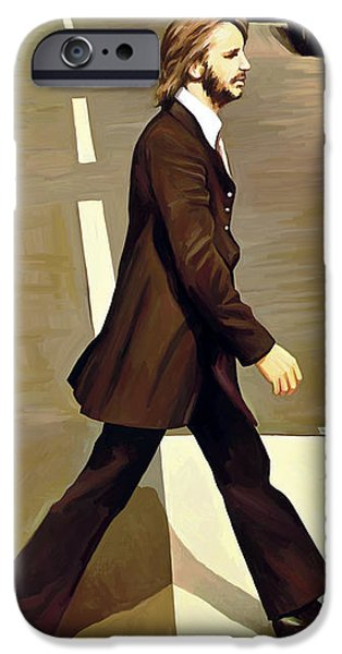 The Beatles Abbey Road Artwork Part 3 Of 4 IPhone Case by Sheraz A