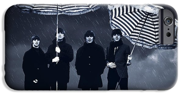 The Beatles In The Rain IPhone Case by Aged Pixel
