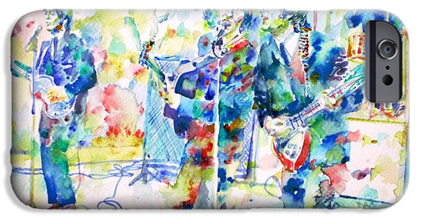 The Beatles Live Concert - Watercolor Portrait IPhone Case by Fabrizio Cassetta
