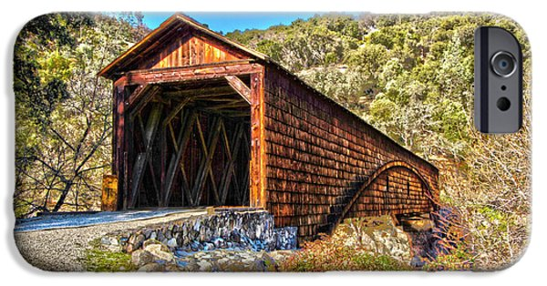 The Beautiful Bridgeport Covered Bridge IPhone Case by John Alves