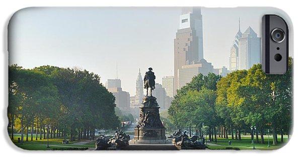 The Benjamin Franklin Parkway - Philadelphia Pennsylvania IPhone Case by Bill Cannon