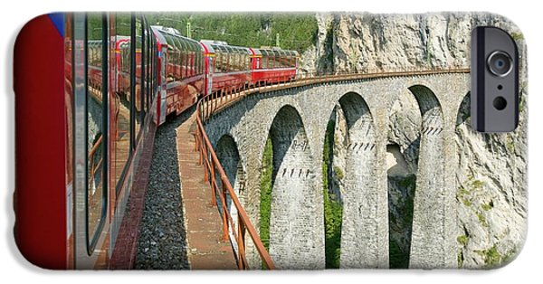 The Bernina Glacier Express IPhone Case by Ashley Cooper