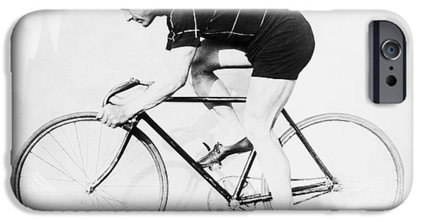 The Bicyclist - 1914 IPhone Case by Daniel Hagerman