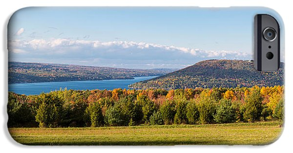 The Bluff On Keuka Lake In Autumn IPhone Case by Panoramic Images