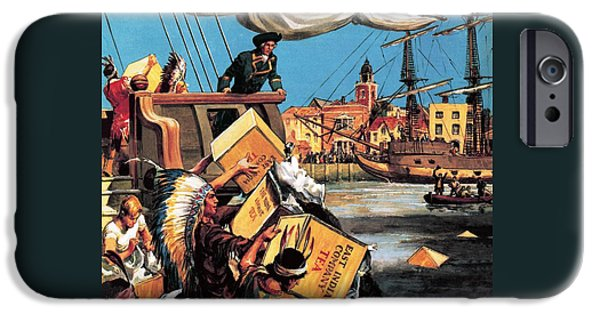 The Boston Tea Party IPhone Case by English School