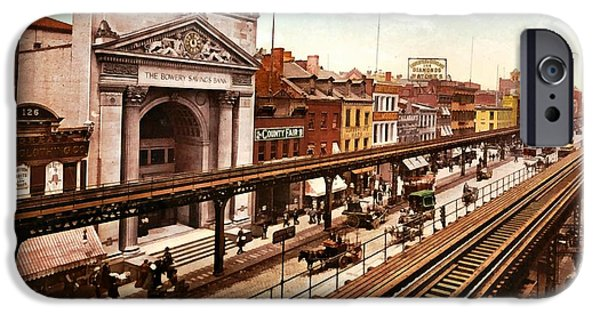 The Bowery New York City 1900 IPhone Case by Unknown