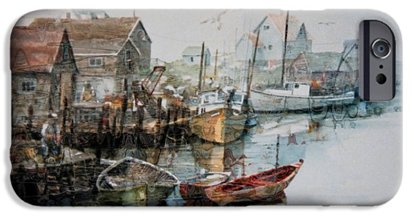 The B'y That Catches The Fish IPhone Case by Hanne Lore Koehler