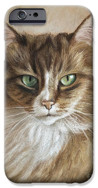The Cat IPhone Case by Tobiasz Stefaniak