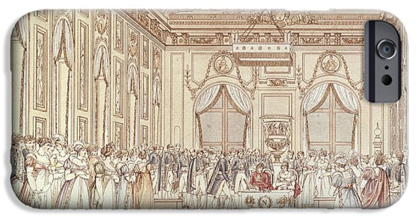 The Civil Ceremony Of The Marriage Of Napoleon Bonaparte 1769-1821 And Marie-louise 1791-1847 IPhone Case by C Percier