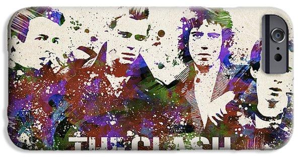 The Clash Portrait IPhone Case by Aged Pixel