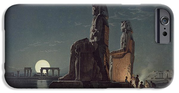 The Colossi Of Memnon, Thebes, One IPhone Case by Carl Friedrich Heinrich Werner