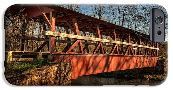 The Colvin Covered Bridge IPhone Case by Lois Bryan