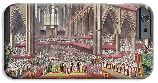 The Coronation Of King William Iv And Queen Adelaide, 1831 Colour Litho IPhone 6s Case by English School